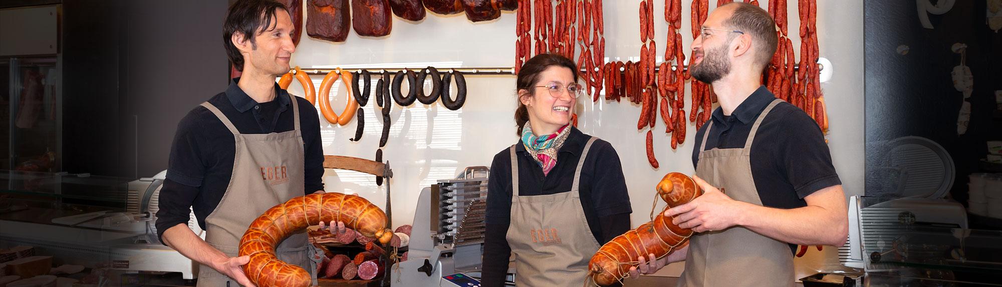 Geschwister Eger, Inhaber der Feinkost-Metzgerei in Winnenden Birkmannsweiler
